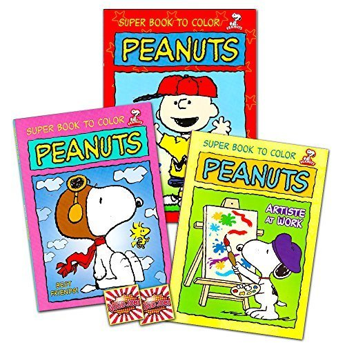 Peanuts Gang Coloring and Activity Book Set -- 3 Coloring Books Featuring Snoopy, Charlie Brown and More (Peanuts Party Supplies) - Brown Snoopy Puzzle