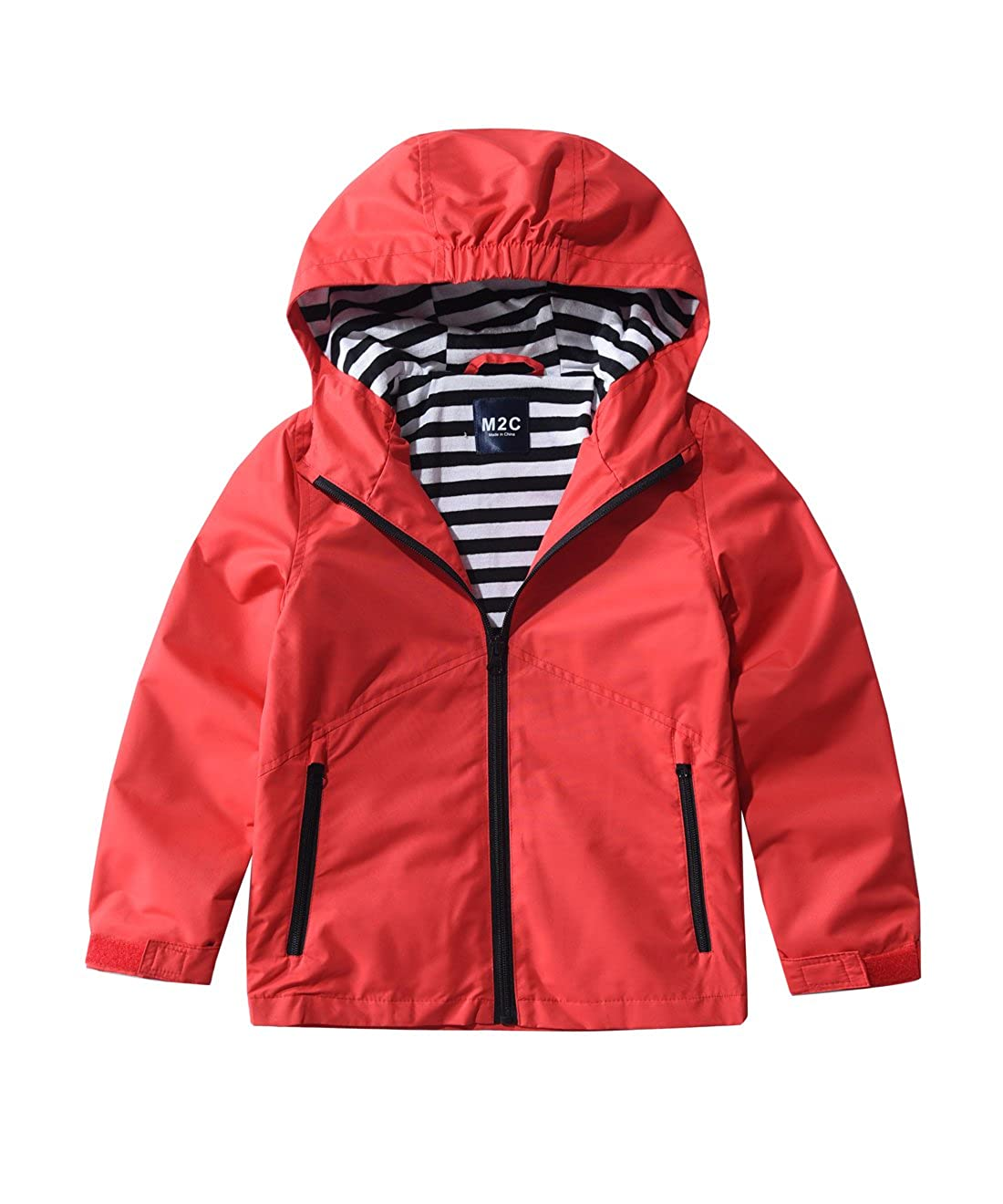 M2C Boys & Girls Hooded Windproof Jacket Light Windbreaker