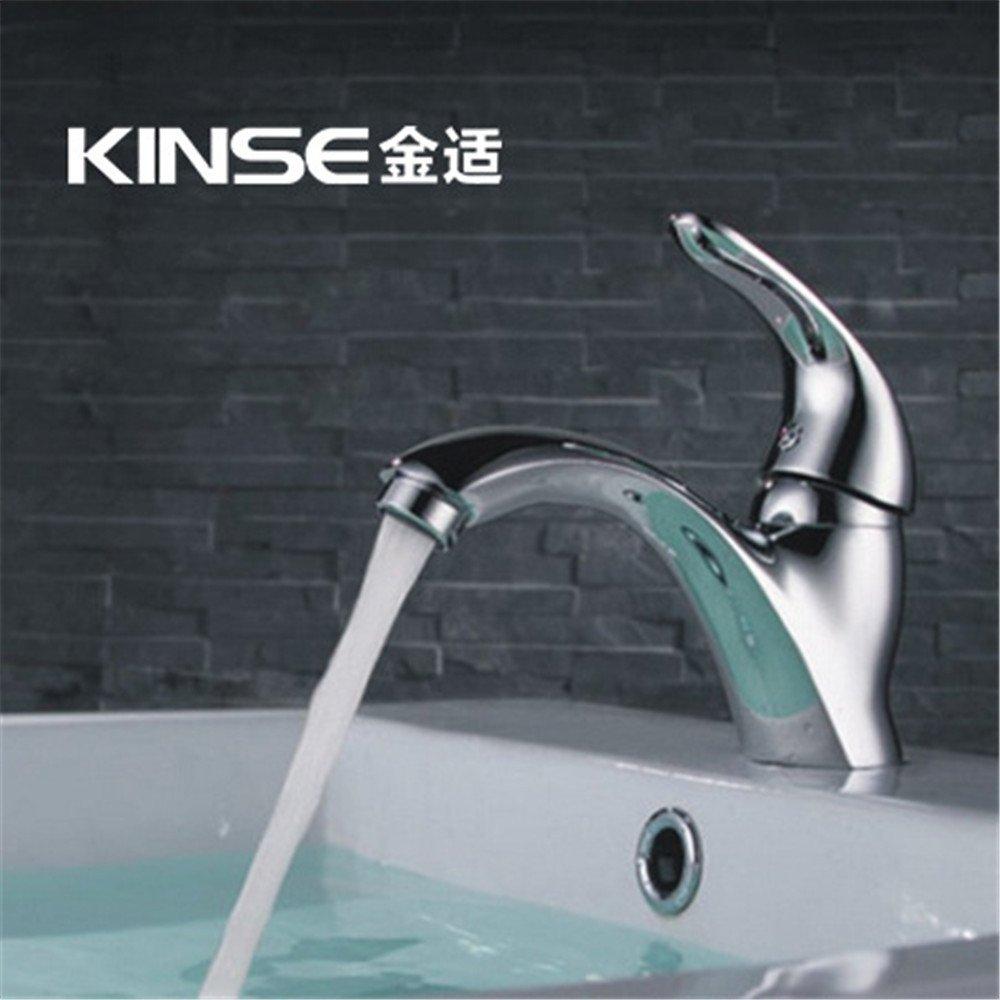 Spedizione gratuita per tutti gli ordini WasserhahnTap WasserhahnTap WasserhahnTap Tutto il rame bacino singolo foro rubinetto caldo e freddo rubinetto bagno bagno caldo e freddo rubinetto  vendendo bene in tutto il mondo