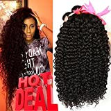 Jaycee Hair 8a Brazilian Unprocessed Virgin Hair Kinky Curly Hair Weave Weft 3 Bundles 100% Human Hair Extensions Cheap Bundle Hair Natural Color can be Dyed and Bleached(100+/-5g)/pc(14″+16″+18″) Review