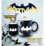 batman kitchen ware - Silver Buffalo BK6534HB DC Comics Batman with Bats Heat Reveal Ceramic Mug, 20-Ounces