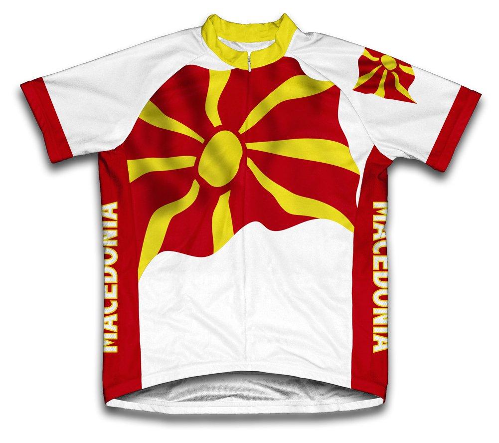 macédoine Drapeau à manches courtes Maillot de cyclisme pour femme Large Blanc - blanc   B00EDKQIFO