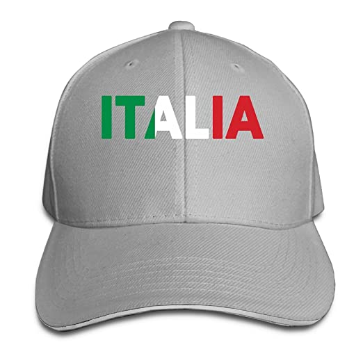 e8e948137 Image Unavailable. Image not available for. Color  Italia Italy Italian Flag  Classic 100% Cotton Hat Caps Unisex Fashion Baseball Cap Adjustable Hip