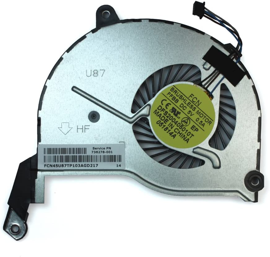Power4Laptops Replacement Laptop Fan for HP Home 15-F278NR, HP Home 15-F279NR, HP Home 15-F289NR, HP Home 15-F305DX, HP Home 15-F337NR
