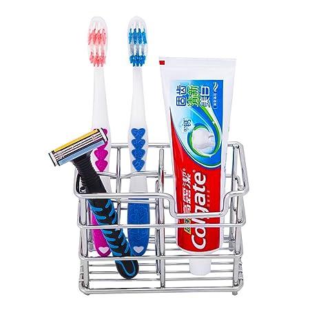 uarter baño de acero inoxidable soporte para cepillos de dientes cepillo de dientes soporte para pasta
