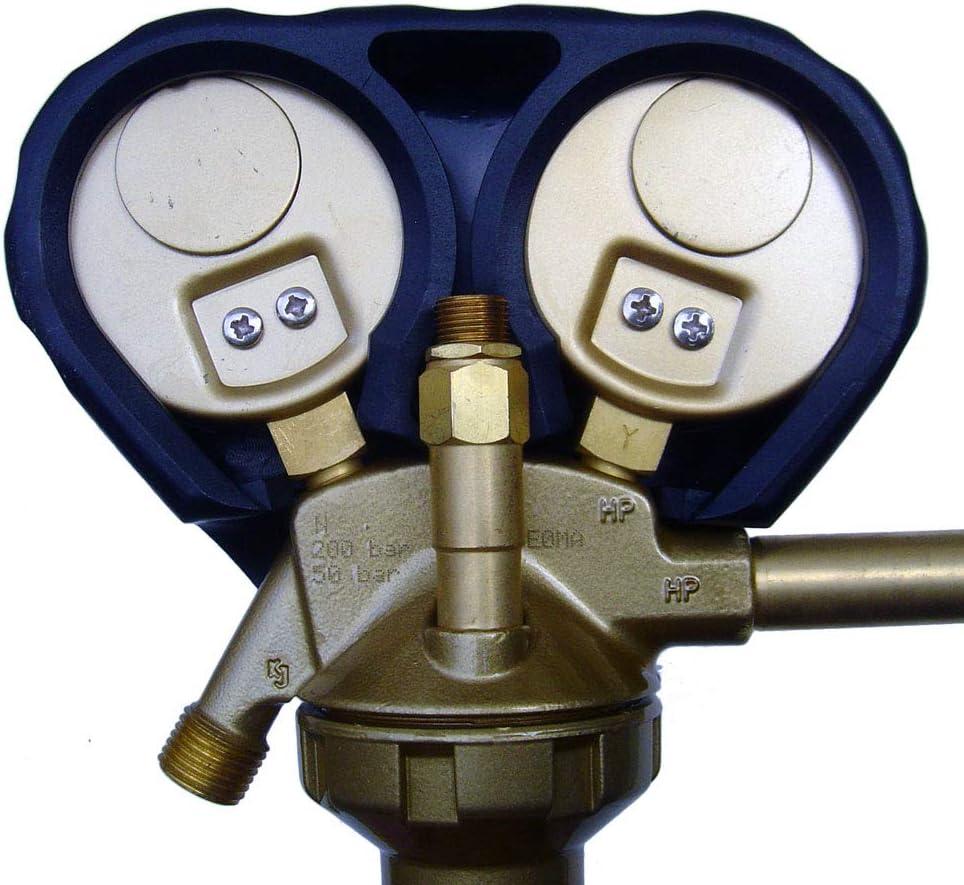 Mano d/étendeur azote gaz neutre C special haute pression 50 bars R410A R32 Jetcontrol outillage frigoriste climatisation charledave GCE detendeur recherche de fuite test /étancheite