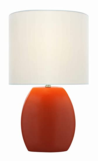 Lite Source Ls 21506orn Reiko 16 5 Inch Ceramic Table Lamp Orange