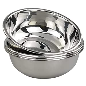Doryh 18/10 Stainless Steel Mixing Bowls, Nesting Bowls for Meal Prep, Serving, Baking, Set of 4