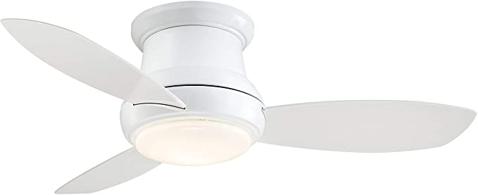 Minka Aire F518l Wh Concept Ii Led White Flush Mount 44 Ceiling Fan With Light Remote Control Amazon Com