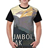 Mens Humboldt Peak 14er Poster Travel Poster Novelty Casual Tshirt 3D Printed Crewneck Graphic Tees Unisex
