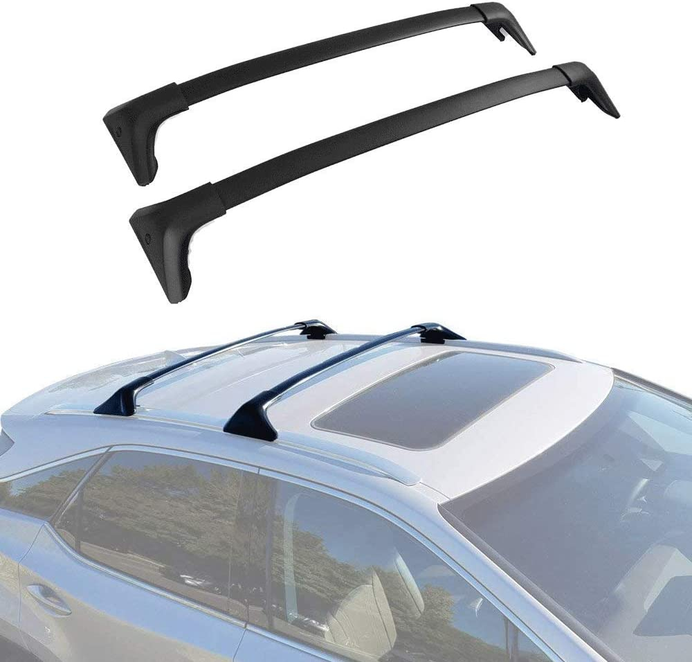 ANTS PART Roof Rack Crossbars Fits for 2016-2018 Lexus RX350 RX450H Car Top Luggage Carrier Bar OE Style Black