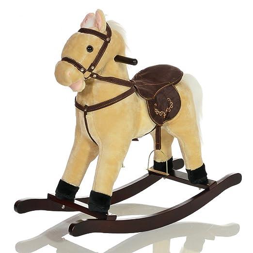 3 opinioni per Grande Peluche Cavallo a Dondolo bambini GRANDOR giocattolo con rumori galoppo