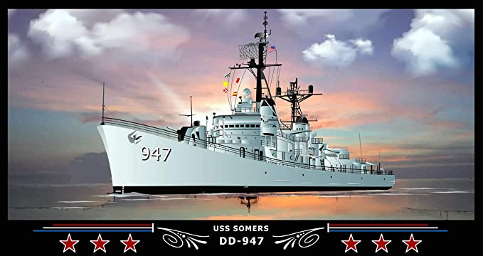 USN Navy Ship Print US Naval Destroyer USS SOMERS DD 947