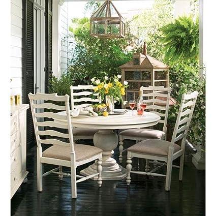 Captivating Paula Deen Home Round Pedestal Table In Linen