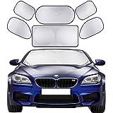 Windshield Sunshade 6 Pieces Car Sun Shade Auto Window Shades by Cosyzone UV Rays Sun Visor Protector, Keeps Vehicle Cooler
