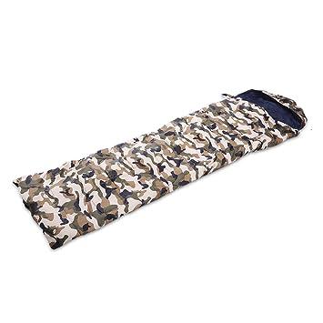 SHUFAGN,Saco de Dormir de Camuflaje Impermeable Envolvente Plegable de Costura Plegable para Adultos al Aire Libre(Color:CAMPAÑA Verde del EJÉRCITO): ...