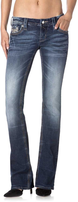 Rock Revival - Womens Chereen Bootcut Jeans, 24, Denim