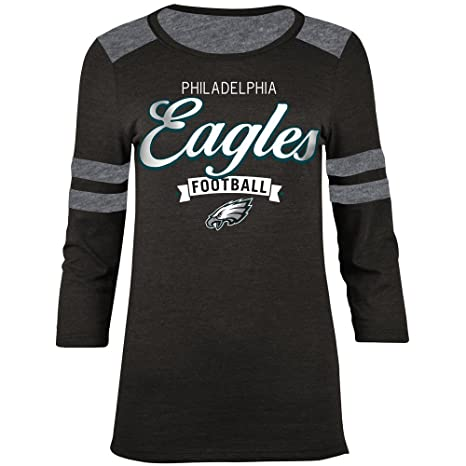 edc6a9f6e Amazon.com   Philadelphia Eagles Womens Football Banner Long Sleeve ...