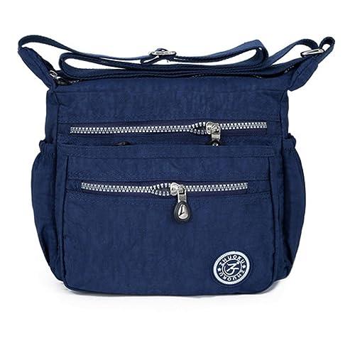 ALIKEEY La bolsa de asas azul azul oscuro: Amazon.es ...
