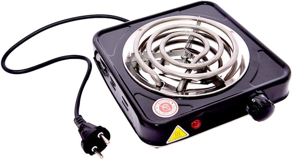 Hemoton Estufa de Quemador en Espiral Control de Perilla de Temperatura Ajustable Placa Calefactora Placa de Cocina Portátil para Hogar Al Aire Libre
