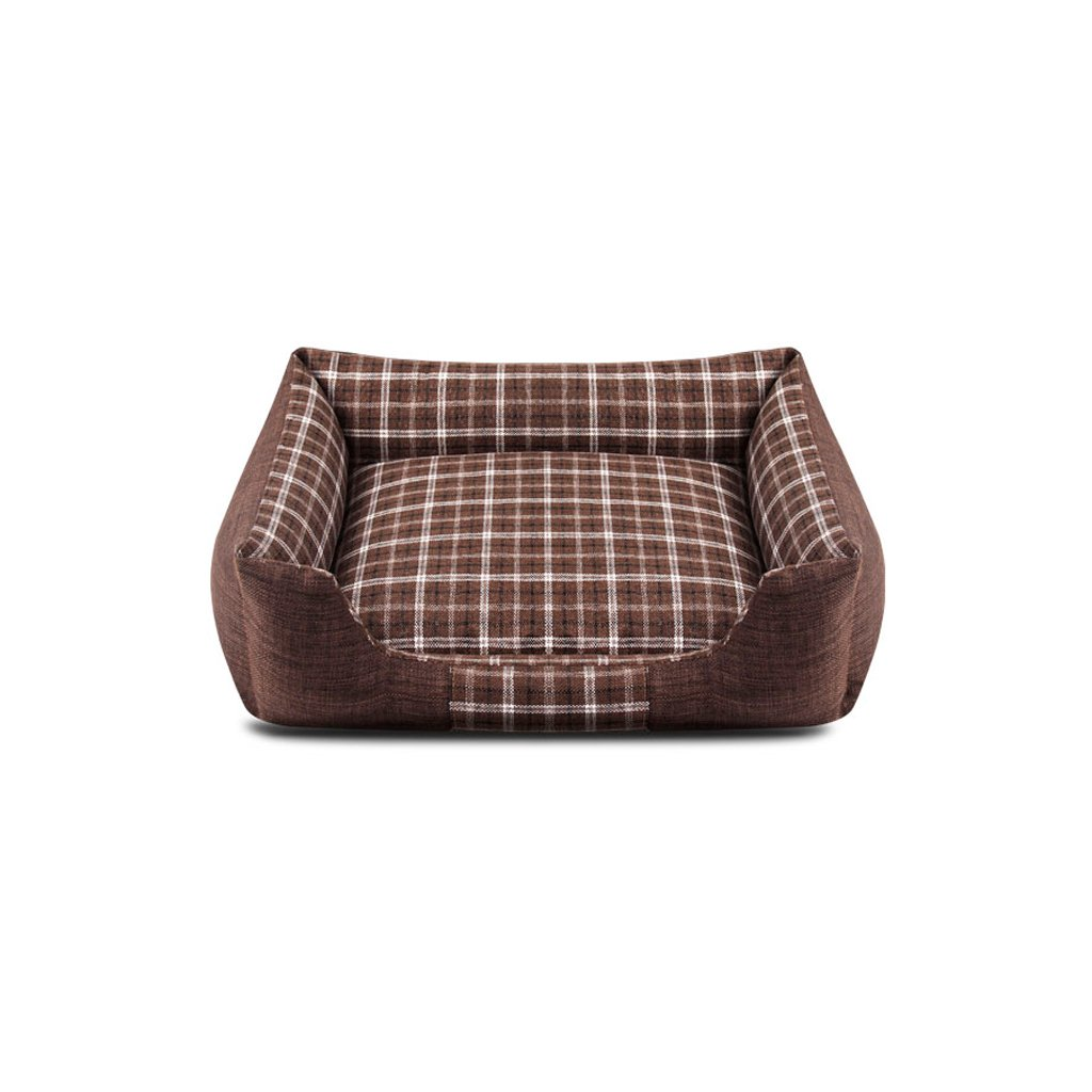 Brown 5545cm Brown 5545cm TangMengYun Summer Dog and Cat Pet Bed Brown Comfortable Removable Cleaning (color   Brown, Size   55  45cm)