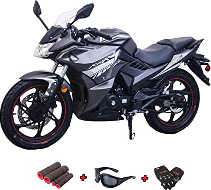 Lifan Kpr 200 2018 200cc Adult Gas Motorcycle Moped Scooter With Gloves Sunglasses And Handgrip Black Sliver Amazon Ca Sports Outdoors