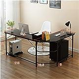 HENGTONGTONGXUN Desktop Computer Desk Home Writing Curved Writing Desk Easy to use (Size : A)
