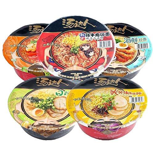 统一汤达人碗面整箱12碗日式酸辣罗宋汤等五口味混拼方便速食汤面