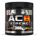 AC8 Xtreme | HARDCORE Pre-Workout Nahrungsergänzungsmittel | MAXIMUM STRENGTH, 20-40 Portionen | 300 g (Frucht-Punsch)