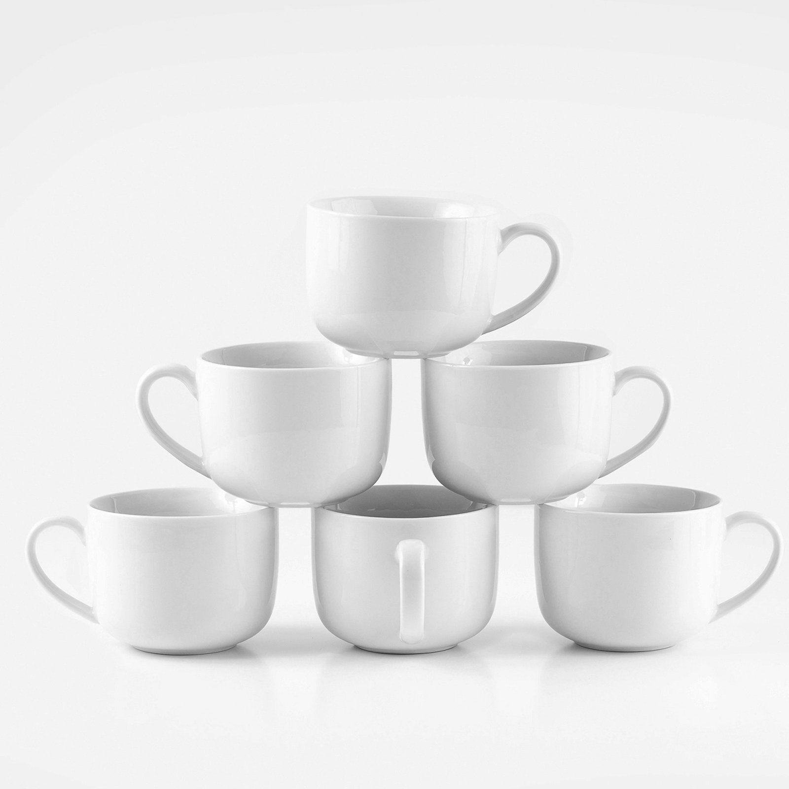Amuse- Professional Barista Jumbo Mug- Set of 6- 16 oz.