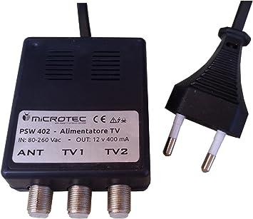 Fuente de alimentación para amplificadores de antena (2 salidas TV