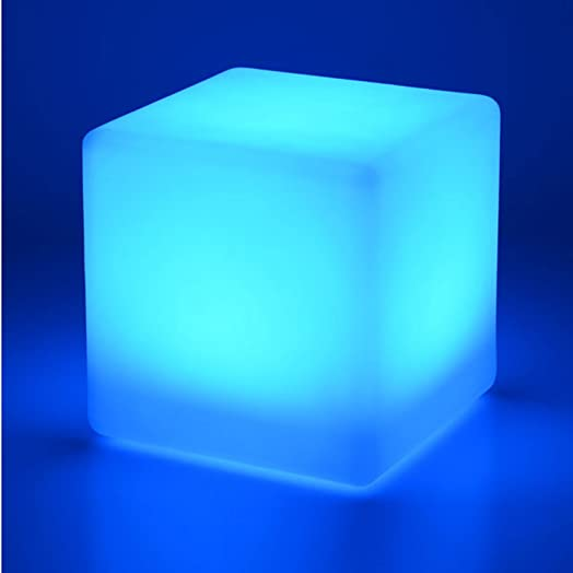 Awesome LED Cube Stool Colour Changing 40cm Chair Seat Outdoor Furniture