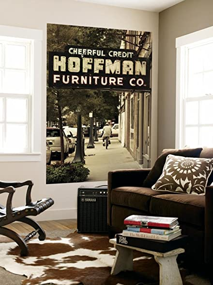 USA, Alabama, Mobile, Dauphin Street, Old Neon Sign For Hoffman Furniture  Wall