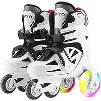 Roller Skates for Kids Boys Girls Adjustable Rollerblades Outdoor Skating Shoes for Beginners Advanced Safe and Durable Rollerblades