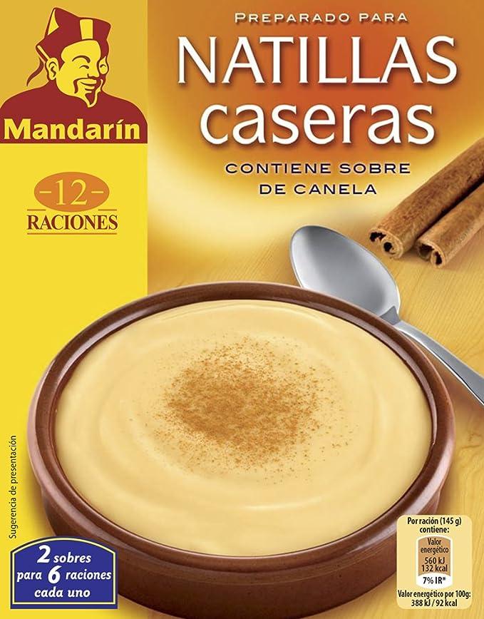 MANDARÍN preparado para natillas caja 123 gr: Amazon.es: Alimentación y bebidas