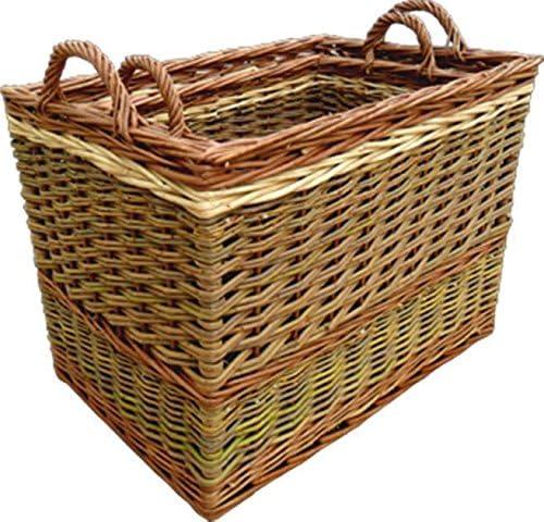 Red Hamper Juego de cestas de Mimbre con cestas al Vapor
