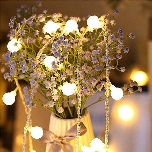 Nufelans_String Light 2.5M 20LED Fairy Lamp for Window Curtain Lights String Lamp Decorative Lights for Party Outdoor (Warm White) by Nufelans_String Light (Image #4)