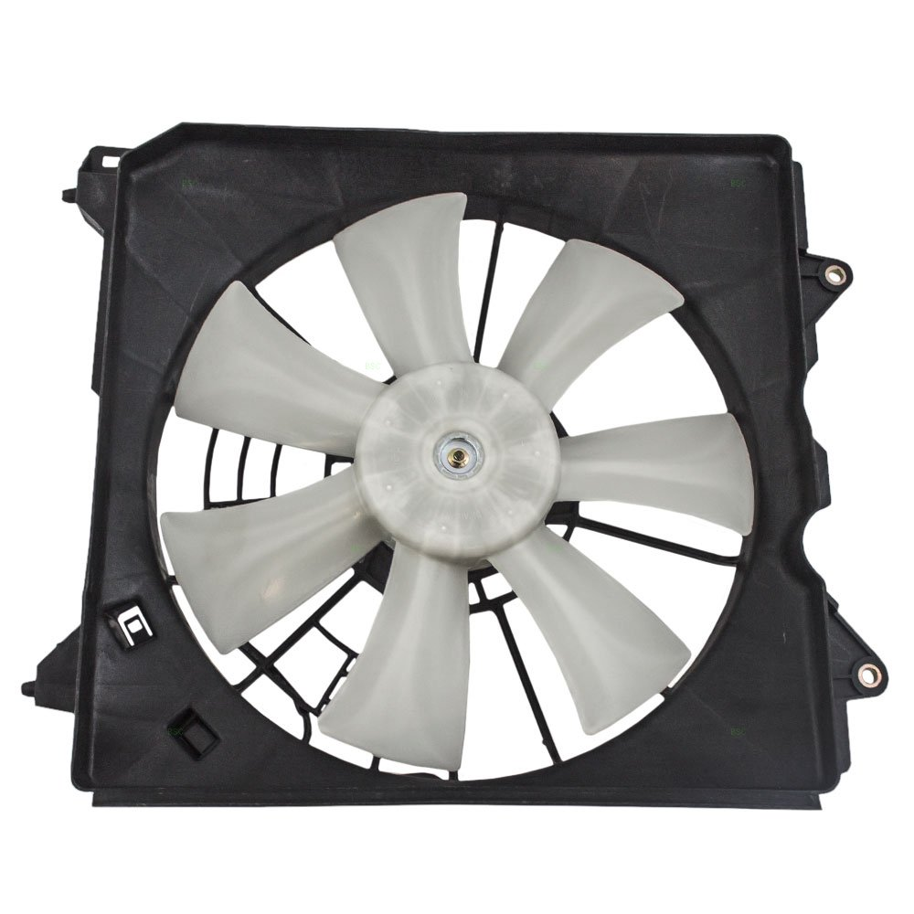 Passengers Denso Type A/C AC Condenser Cooling Fan Motor Assembly Replacement for Acura Honda 2.4L 38611-R40-A01 AutoAndArt