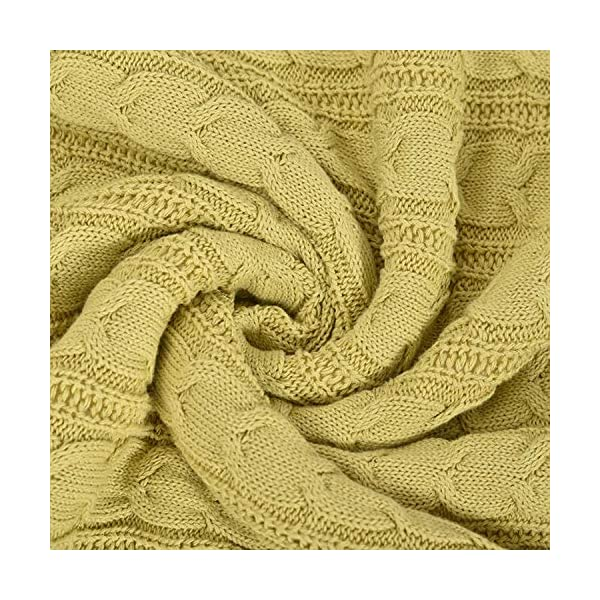 CERYTHRINA-Knitting-Throw-Blanket-Cable-Yarn-Knit-Sherpa-Lined-Reversible-Warm-Cozy-Couch-Bed