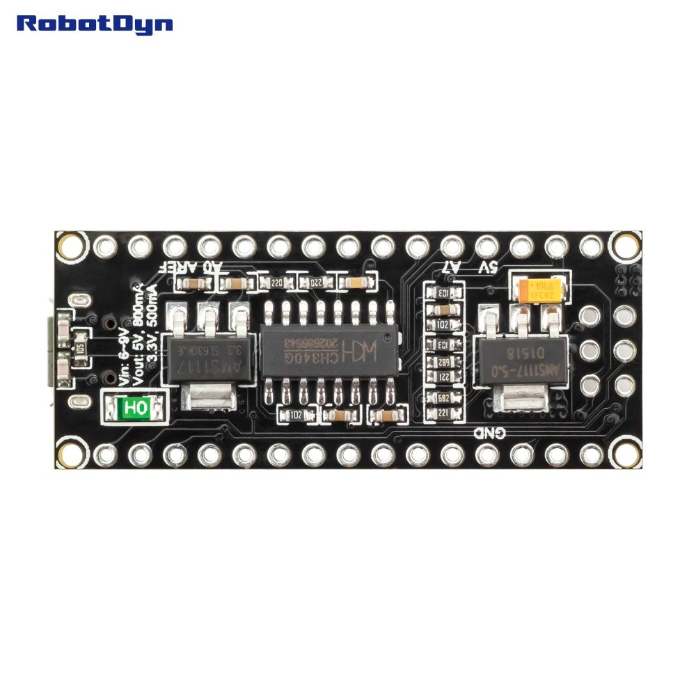 Robotdyn Nano V3 Atmega328 Pinheaders Not Soldered Usb To Parallel Serial Circuit Diagramch341 Basiccircuit Ch340g Micro Compatible For Arduino V30 Computers Accessories