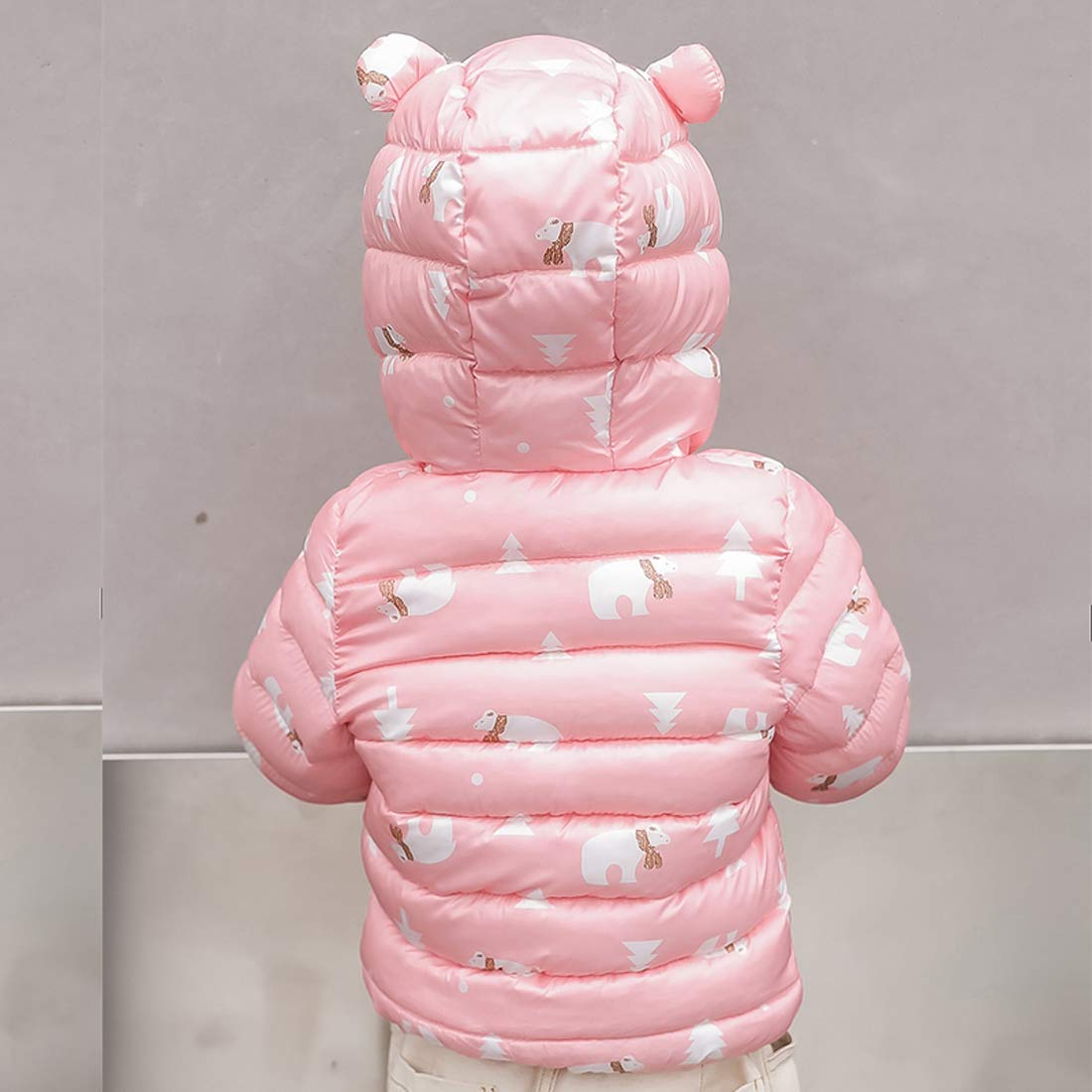 FEOYA Baby Boys Girls Winter Coats with Hoods Lightweight Puffer Little Jacket for Toddlers Infant 12-18 Months