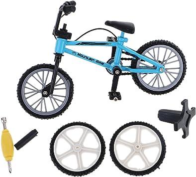 P Prettyia Juguete de Dedos Mini Bicicleta de Montaña con ...