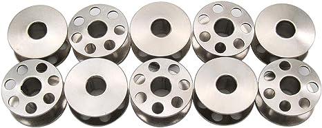 10 Pk Metal Bobbin #426000 For Many Elna /& White Sewing Machines