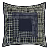 VHC Brands Classic Country Rustic & Lodge Pillows & Throws - Columbus Blue Quilted 16'' x 16'' Pillow
