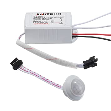 ILS – AC 220 V IR LED Strip PIR Sensor Movimiento a Infrarrojos Cuerpo Interruptor automático
