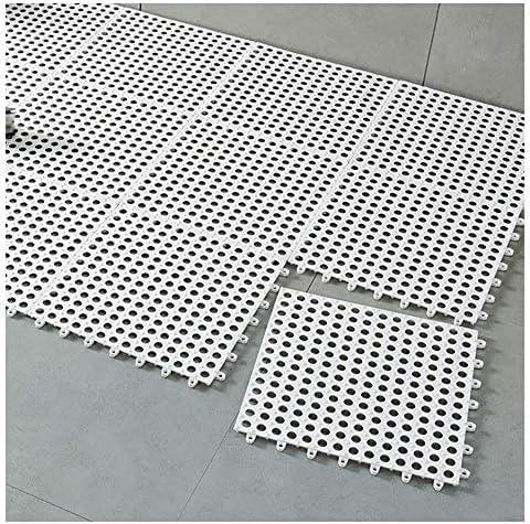 GHHQQZ バスルームのカーペット 滑り止め マッサージ 切り取り可能 バルコニー キッチン、 5色、 厚さ0.1 cm、 30x30cm (Color : White, Size : 5pcs)