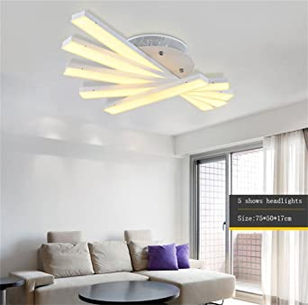 CR ¨ ¦ Ative Lampe Salon-Decke LED Atmosph ¨ ¨ re Moderne ...