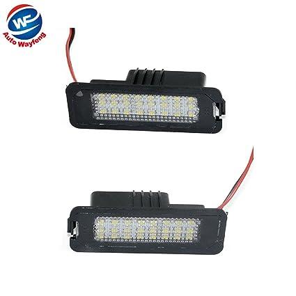 Auto wayfeng WF® Luces de matrícula del coche sin error Luz de matrícula LED