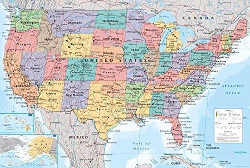 Karte Usa.Gb Eye Usa Landkarte Maxi Poster 61 X 91 5 Cm