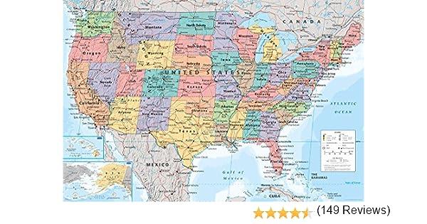 GB Eye LTD, USA, Mapa, Maxi Poster, 61 x 91,5 cm: Amazon.es: Hogar